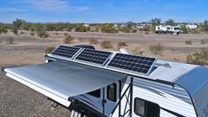 Is it possible to power an RV air conditioner with solar? I've been continuously asked this question since making our series of videos & posts on RV solar. So lets dive right in and find out how to power RV air conditioning with solar! Rv Solar Panels, Solar Energy Panels, Solar Panel System, Panel Systems, Rv Air Conditioner, Solar Roof Tiles, Solar Projects, Diy Projects, Solar Panel Installation