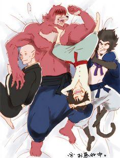 The Boy and the Beast #Kumatetsu #Kyuta #Tatara #Hyakushubo (by 隻眼の侍)