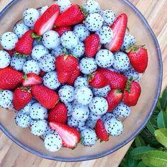 Dragon fruit  strawberries