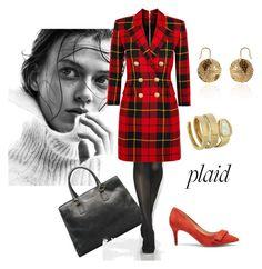 """#plaid"" by giulia-sicilia ❤ liked on Polyvore featuring Balmain, Bulgari, Sole Society and plaid"