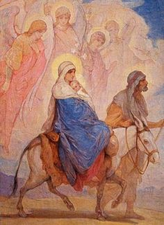 "Nikolay Andreyevich Koshelev, (1840-1918): Huida a Egipto. (""Flight into Egypt"")"