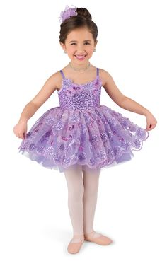 Lavender sequin silky stretch over lavender spandex leotard with adjustable straps. Attached empire waist embroidered organza top skirt over lavender tricot tutu. Appliqué trim.  Flower headpiece included. #dancecostumes #firstrecital #costumegallery #dancecompetition #ballerina #babyballerina #tutu #tots Baile Charleston, Dance Recital Costumes, Baby Ballerina, Flower Headpiece, Tiny Dancer, Lavender Fields, Ballet Dancers, Leotards, Flower Girl Dresses