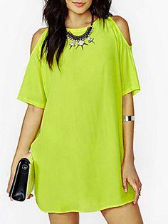 vestido de mezclilla cuello de la camisa de las mujeres con la correa del arco 2016 - $1103.11