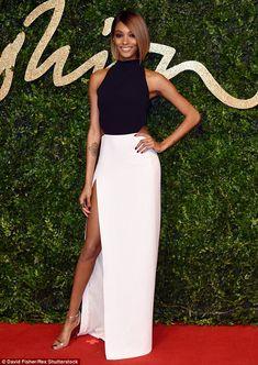 Jourdan Dunn in Mugler attends the British Fashion Awards 2015 on November 23, 2015