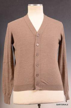 BRUNELLO CUCINELLI Brown Cashmere Cardigan Sweater NEW