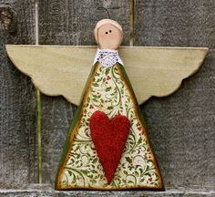 Carved Wood Christmas Angel