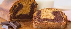 receta bizcocho marmolado de chocolate y vainilla casero