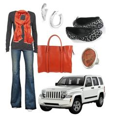 "I love the ""coordinating your outfit with your Jeep Liberty"" idea.  NICE"