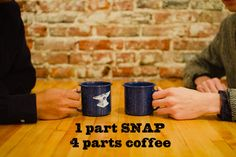 Celebrate national coffee day like an adult: 1 part SNAP to 4 parts coffee.