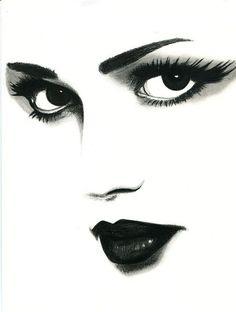 sad eyes woman original art pencil drawing eyes by ElizavellaArt