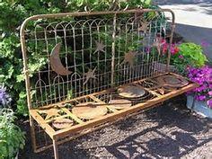 Garden gate repurposed as a bench   Repurposed old gates   Pinterest