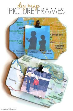 Decorating with Map Picture Frames - display your photos KristenDuke.com by A Night Owl