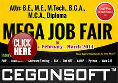 I thank cegonsoft for giving an opportunity to attend Cegonsoft job fair and i got placed as software testing professional in that.The given Cegonsoft interview questions helped me a lot at time of interview. thank you...