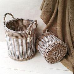Домашние корзины плетеные 2 шт.