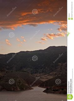 Sunset Over Horsetooth Lake - Download From Over 49 Million High Quality Stock Photos, Images, Vectors. Sign up for FREE today. Image: 758149