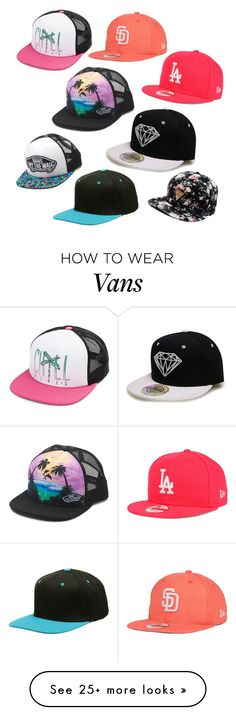 """I think I might be obsessed"" by torn147 on Polyvore featuring Volcom, New Era, Vans, women's clothing, women, female, woman, misses and juniors"