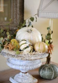 Modern Vintage Coastal...: Decorating your home for fall...