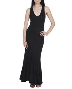V-Neck Maxi Dress - Dresses