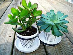 Painted Plant Pots