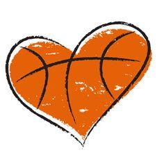 Basketball Heart | ~♥• ♥•♥~HEARTS~♥• ♥•♥~ | Pinterest ...