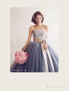 ウェディング > ドレス | Hatsuko Endo Cute Wedding Dress, Colored Wedding Dresses, Wedding Gowns, W Dresses, Nice Dresses, Fashion Dresses, Glamorous Wedding, Sweet Dress, Designer Wedding Dresses