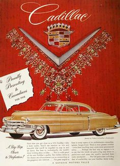 1951 Cadillac Coupe original vintage ad. Proudly presenting to Canadians for 1951. A big step closer to perfection!