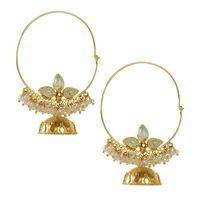 Buy Lotus Green Bali 113JE51 online - JaipurMahal ethnic online store  Rajasthan jewellery  Handicraft   gift shop   Handmade products  Wedding gift online   Jaipur online for India  Rajasthani Jewellery, Crafts