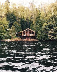 "2,145 Likes, 15 Comments - Explore Canada (@explorecanada) on Instagram: ""Cabin goals. : @ouelletbenjamin : Lac La Minerve, @TourismeQuebec #ExploreCanada . Mon chalet…"""
