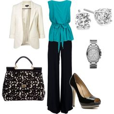 A great business outfit - a little too bold for an interview.