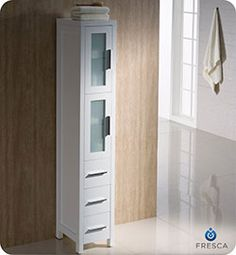 The Fresca Torino Tall Bathroom Linen Cabinet Is Not Only A Perfect  Addition To Any Fresca Torino Vanity Ensemble, But It Also Works Very Well  As A Stand ...