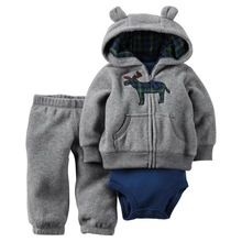 2016 Carters do bebê 3 peça de um conjunto, Bebê da menina do menino set Carters bebes inverno novo estilo snowsuit abrigos roupas(China (Mainland))