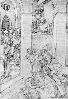 Artist: Schäufelein, Hans Leonhard, Title: Darstellung zur Geschichte Petri: Petri Verleugnung, Date: ca. 1511-1514