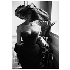 Mark Shaw-Dior Fur Hat-Paris, 1954   i'm all about the hat...