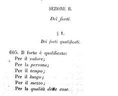Stralcio del codice penale del Regno di Sardegna del 1859