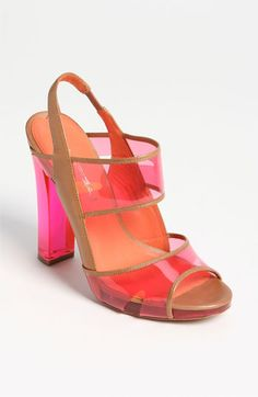 Via Spiga 'Clair' Sandal | Nordstrom - For the woman who loves hot #pink shoes this #sandal is perfect for the #Caribbean.  We can already hear you walking across the deck of the Reflection Pool.