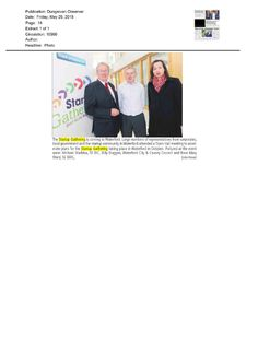 Waterford: Dungarvan Observer- Launch of Startup Gathering in Waterford. Town Hall Meeting, Product Launch, Thing 1, Author, How To Plan, Writers