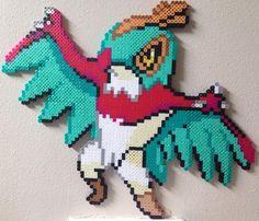 Hawlucha perler by Birdseednerd on DeviantArt