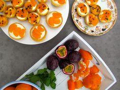 Mandarin and Passionfruit Mascarpone Tarts