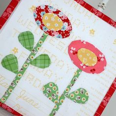Bloom Sew Along Block #3 featuring Lori Holt's Calico Days fabric collection #iloverileyblake