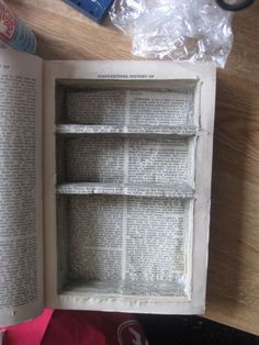 How to make a secret hiding place within a book. http://whipstitchdesigns.wordpress.com/