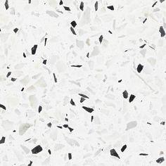white marble tiles terrazo