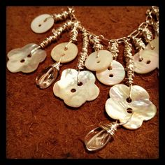 Dishfunctional Designs: Bohemain Mother Of Pearl Button Necklace Tutorial