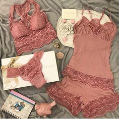 Sexy Pajamas, Pajamas Women, Pyjamas, Cute Sleepwear, Lingerie Sleepwear, Lingerie Set, Pretty Lingerie, Beautiful Lingerie, Biker Chick Outfit
