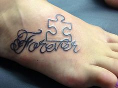 puzzle pieces tattoos | Pin Obviouslyaweasleysnape Puzzle Piece Tattoos on Pinterest