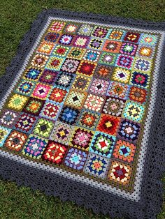 Crochet granny afghan ganchillo