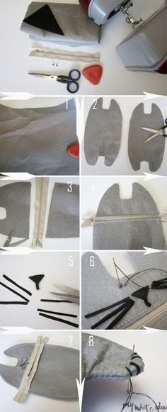 Sewing projects for cats diy crafts Ideas Sewing Tutorials, Sewing Hacks, Sewing Crafts, Sewing Projects, Diy Pencil Case, Pencil Case Pattern, Pencil Case Tutorial, Ideias Diy, Pencil Bags