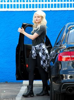 Exciting news: Pro dancer Witney Carson flashed her engagement ring as she arrived at the studio Tuesday