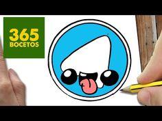 App Drawings, Funny Drawings, Cartoon Drawings, 365 Kawaii, Kawaii App, Easy Drawings For Kids, Drawing For Kids, Draw Logo, Cute Paintings
