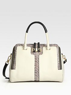 Furla Exclusively for Saks Fifth Avenue - Mediterranea Snake-Print Leather Shopper #spring #bags