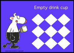 A check or sticker on this reward card might encourage your child to empty his drink cup.